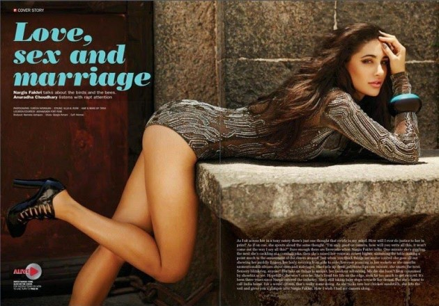 nargis fakhri hot photo from filmfare