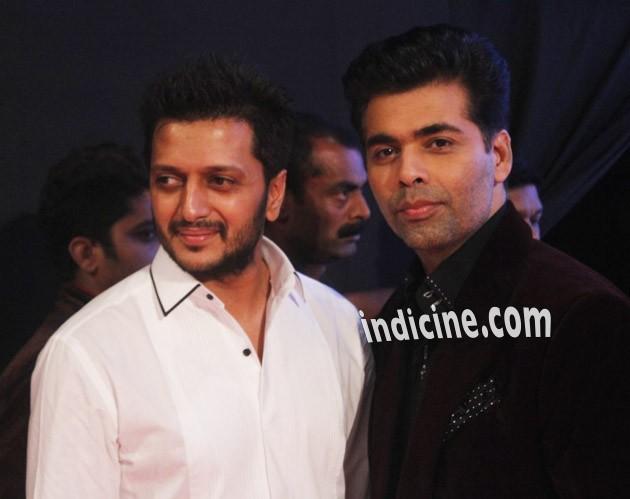 Ritesh Deshmukh with Karan Johar