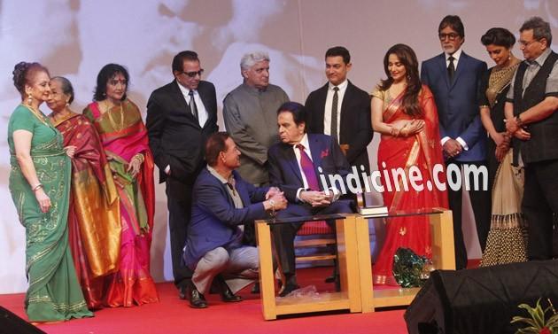 Saira Banu, Dharmendra, Javed Akhtar, Aamir Khan, Madhuri Dixit, Amitabh Bachchan, Priyanka Chopra, Subhash Ghai, Dilip Kumar and Salim Khan