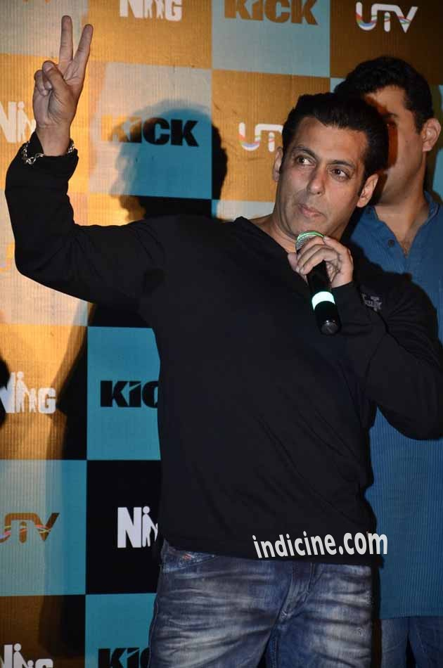 Salman Khan at Kick first look launch