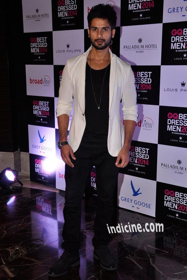 Shahid Kapoor at GQ Best Dressed Men 2014 awards