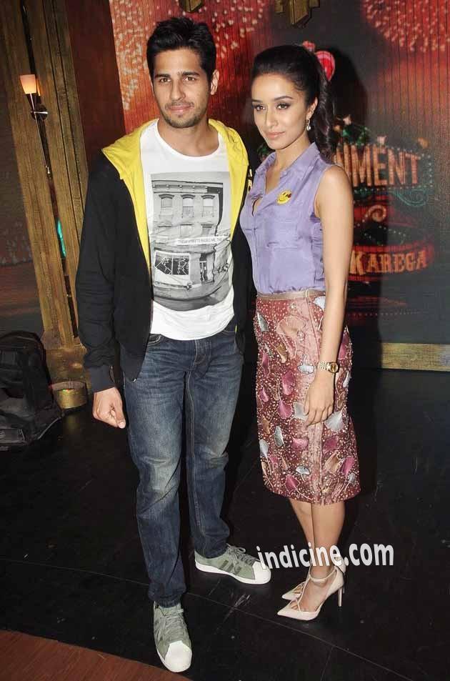 Sidharth Malhotra, Shraddha Kapoor promote Ek Villain on Entertainment Ke Liye Kuch Bhi Karega