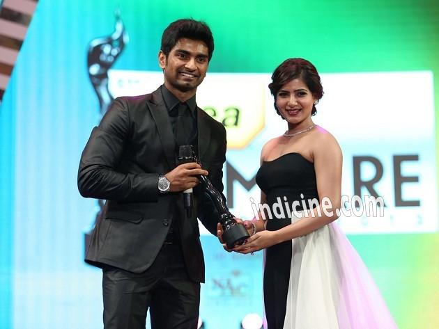 Adharva, Samantha Ruth Prabhu at Idea Filmfare awards