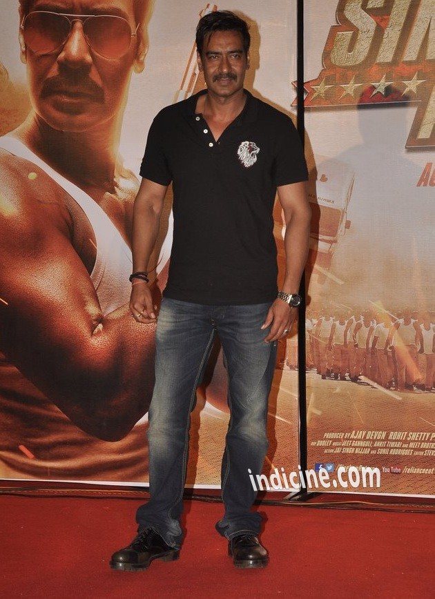 Ajay Devgan at Singham Returns trailer launch
