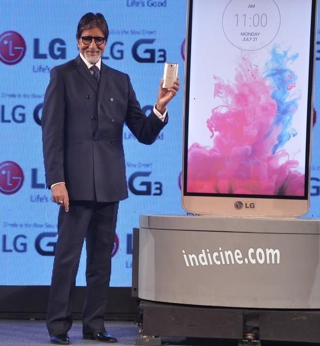 Amitabh Bachchan unveils new LG G3 smart phone