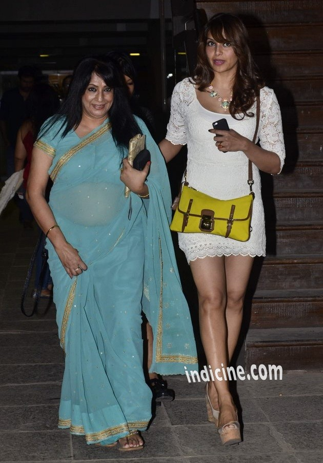 Bipasha Basu snapped at the birthday dinner of her father