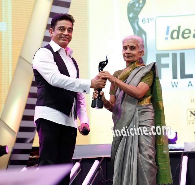Kamal Haasan at 61st Idea Filmfare South awards 2013
