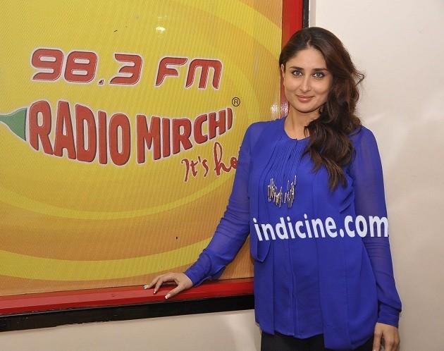 Kareena Kapoor promotes Singham Returns on 98.3 FM Radio Mirchi