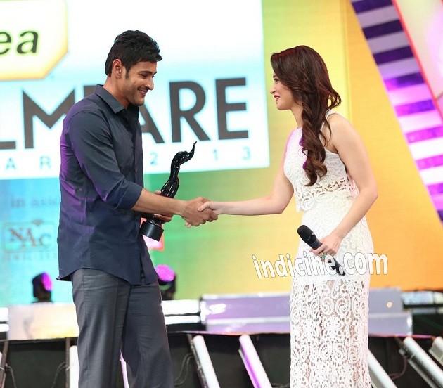 Mahesh Babu, Tamanna Bhatia at Idea Filmfare South awards