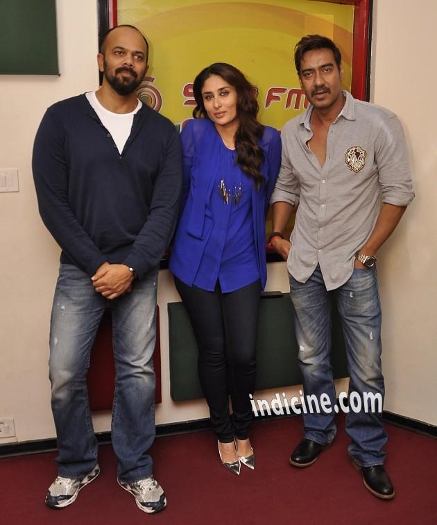 Rohit Shetty, Kareena Kapoor and Ajay Devgan promote Singham Returns on Radio Mirchi