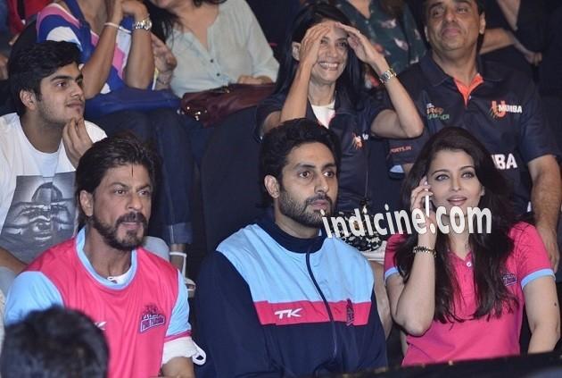 SRK, Abhishek Bachchan and Aishwarya Rai Bachchan