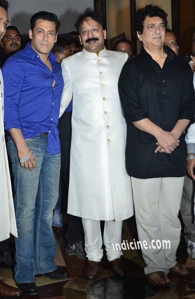 Salman Khan, Baba Siddique and Sajid Nadiadwala