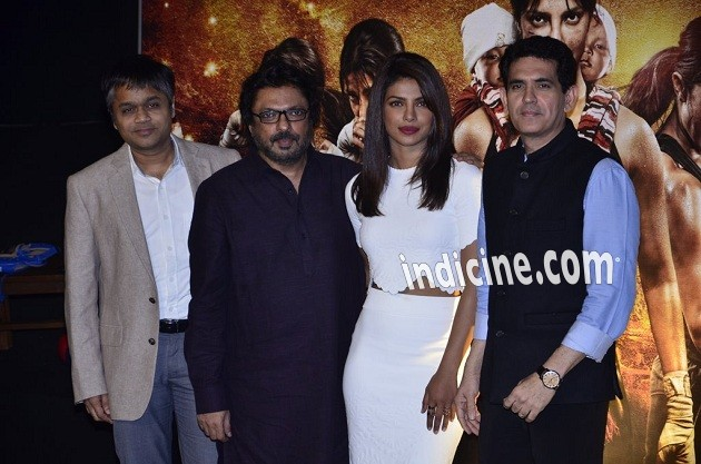 Sanjay Leela Bhansali, Priyanka Chopra and Omung Kumar