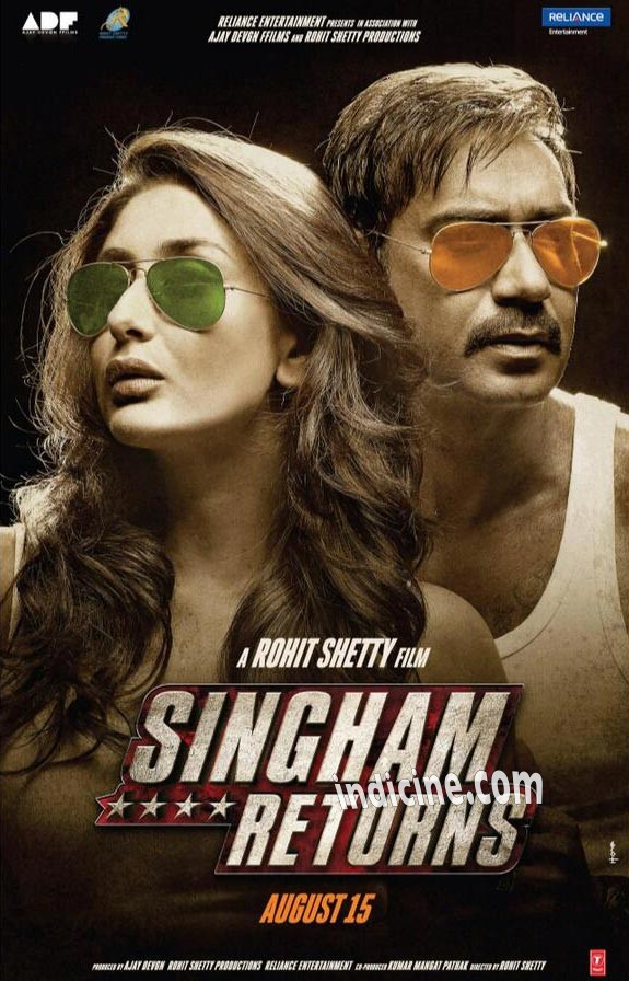 Singham Returns First Look - Ajay Devgan and Kareena Kapoor