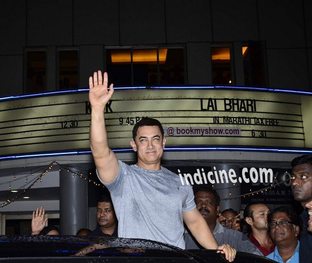Aamir Khan at the screening of Marathi movie Saturday Sunday