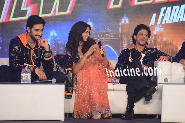 Abhishek Bachchan, Deepika Padukone and Shahrukh Khan