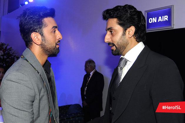 Abhishek Bachchan with Ranbir Kapoor