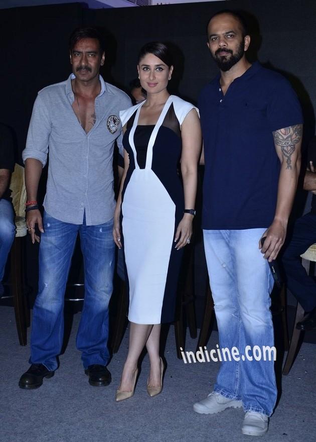 Ajay Devgan, Kareena Kapoor and Rohit Shetty promote Singham Returns