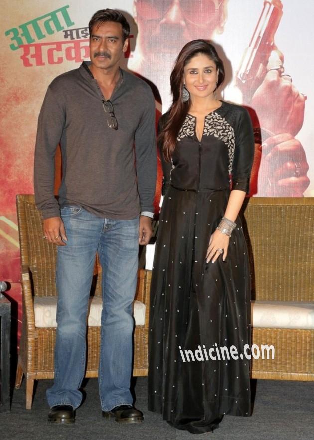 Ajay Devgan, Kareena Kapoor promote Singham Returns in Kolkata