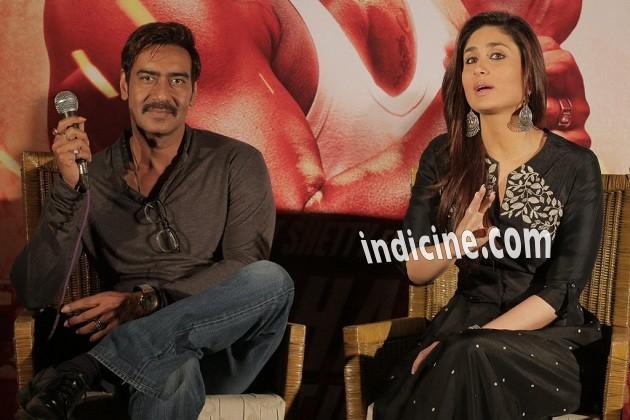 Ajay Devgan, Kareena Kapoor promote Singham Returns