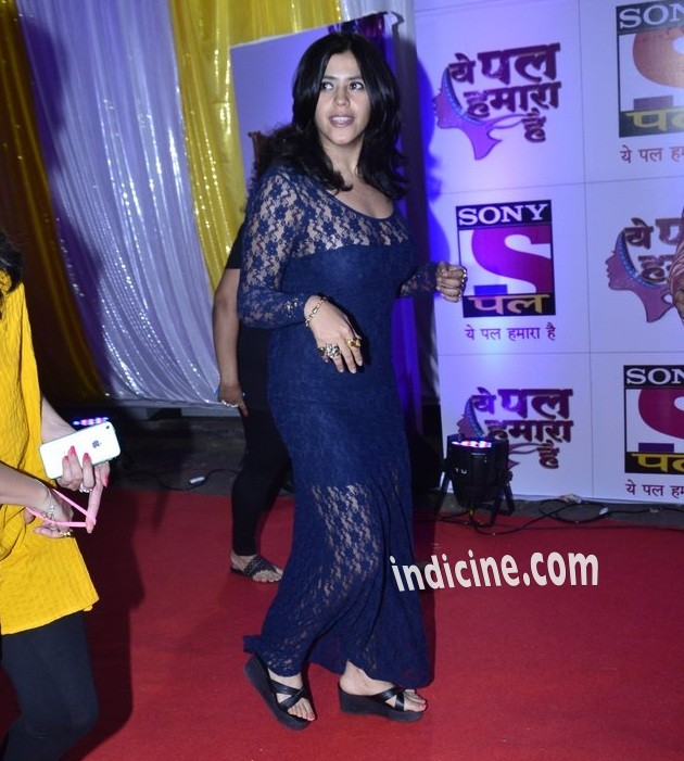 Ekta Kapoor at Sony Pal channel red carpet