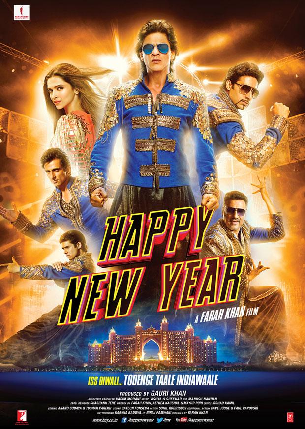 Happy New Year Poster SRK, Deepika, Abhishek, Boman, Sonu, Vivaan