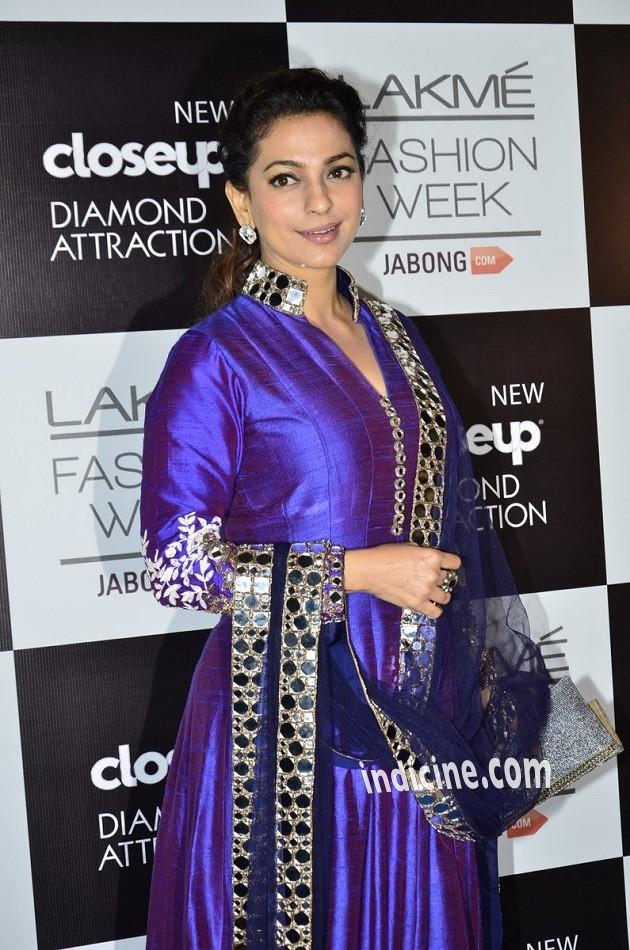 Juhi Chawla at Lakme Fashion Week 2014