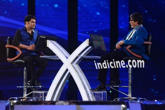 Kapil Sharma with Amitabh Bachchan