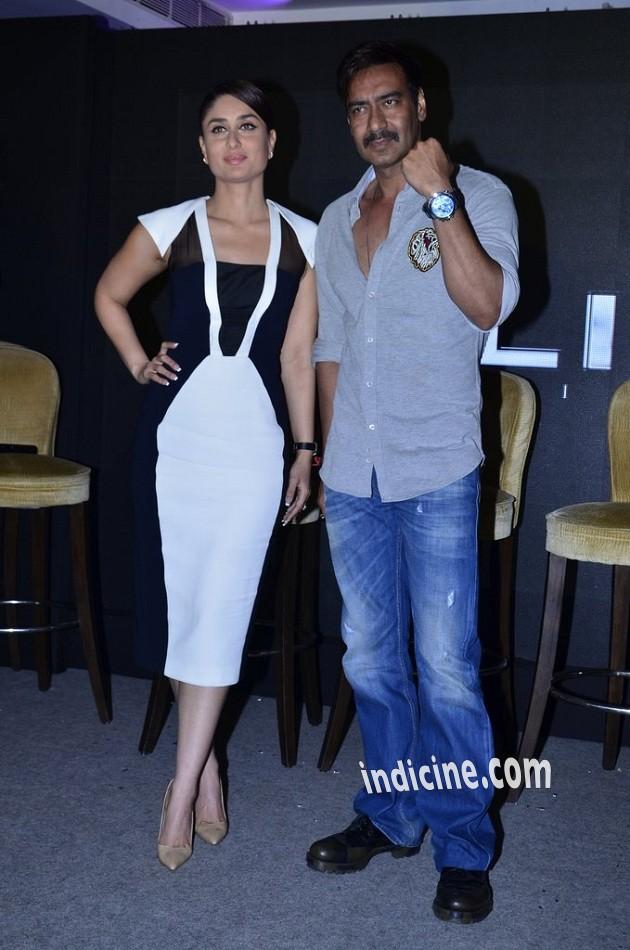 Kareena Kapoor, Ajay Devgan promote Singham Returns