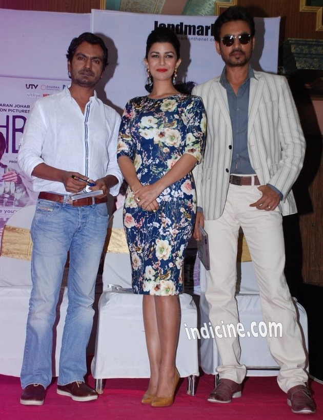 Nawazuddin Siddiqui, Nimrat Kaur and Irrfan Khan at The Lunchbox DVD launch