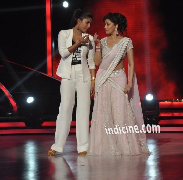 Priyanka Chopra with Madhuri Dixit