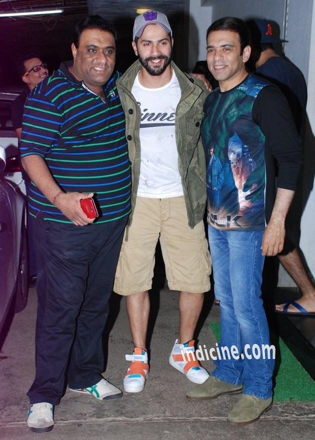 Sajid, Varun Dhawan and Farhad