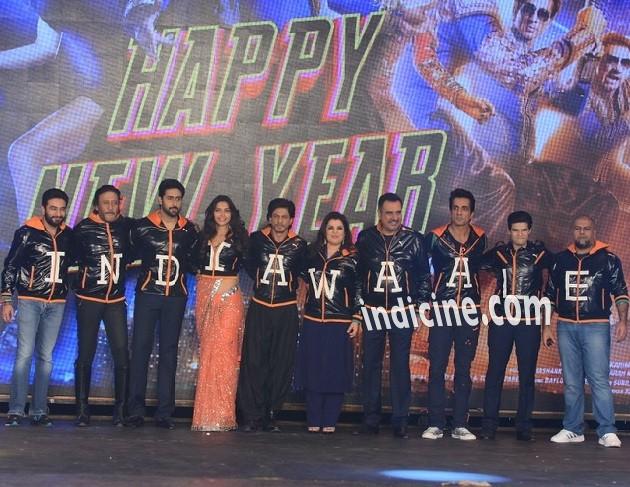 Shekhar Ravjiani, Jackie Shroff, Abhishek Bachchan, Deepika Padukone, SRK, Farah Khan, Boman Irani, Sonu Sood, Vivaan Shah and Vishal Dadlani