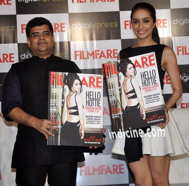 Shraddha Kapoor launches Filmfare cover