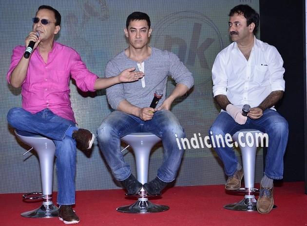 Vidhu Vinod Chopra, Aamir Khan and Rajkumar Hirani