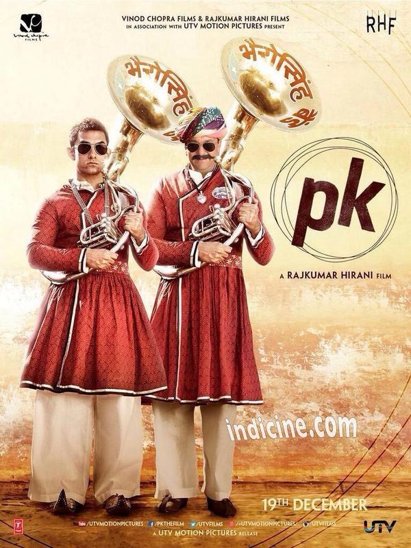 Aamir Khan and Sanjay Dutt on PK Poster