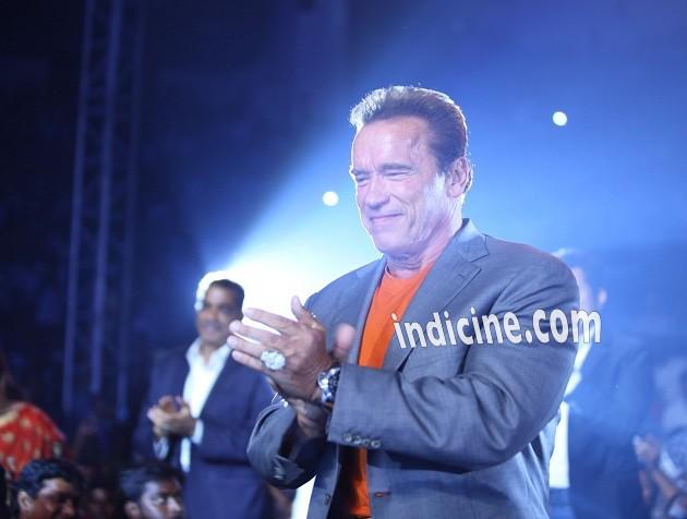 Arnold Schwarzenegger at I music launch