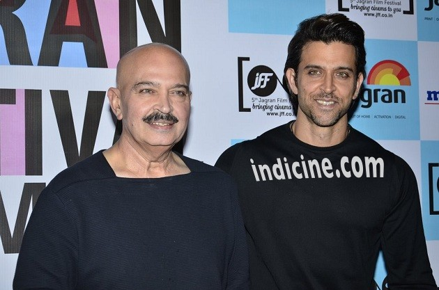 Hrithik Roshan with father Rakesh Roshan