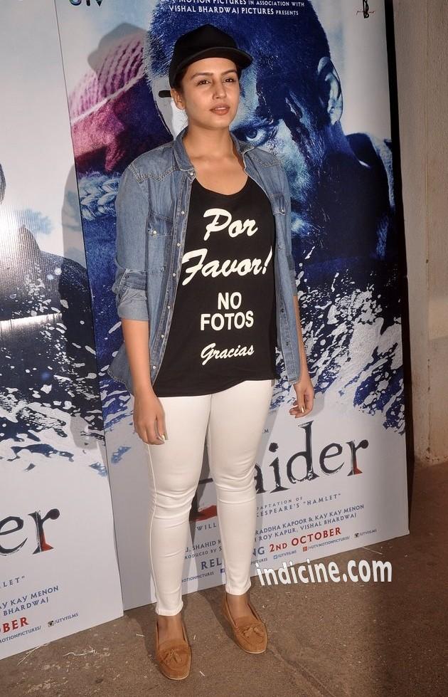 Huma Qureshi at Haider special screening