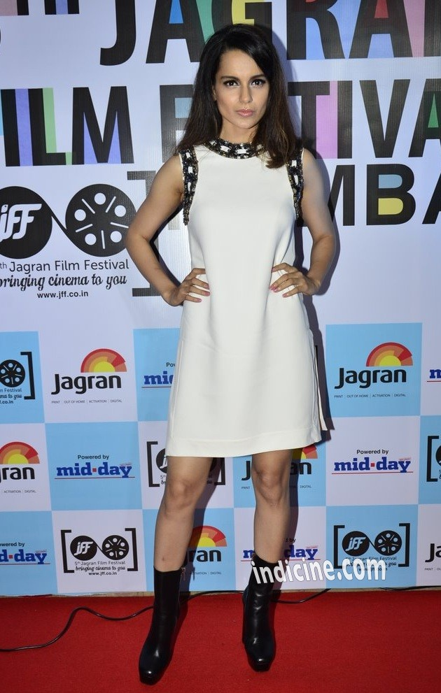 Kangana Ranaut at the launch of 5th Jagran Film Festival