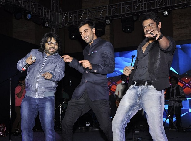 Ranbir Kapoor, Pritam Chakraborty at Saavn success bash