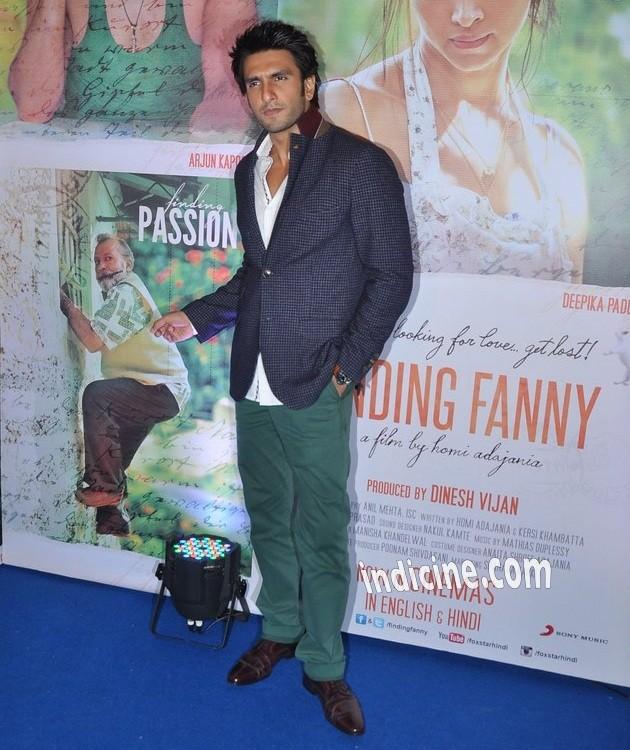 Ranveer Singh at Finding Fanny success bash