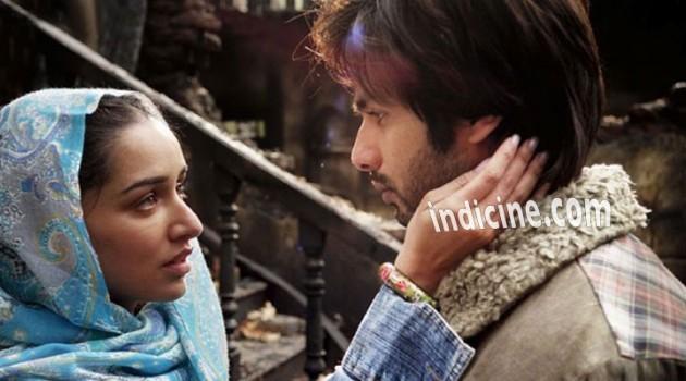 Shahid with Shraddha Kapoor Haider movie still