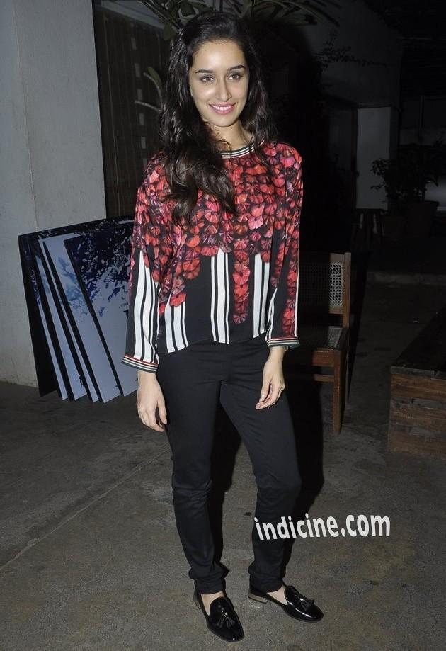Shraddha Kapoor at Haider screening