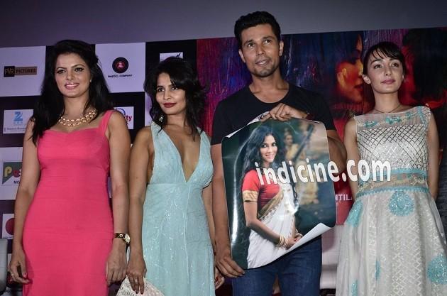 Tripta Parashar, Rachna Shah, Randeep Hooda and Ferena Wazeir at Rang Rasiya music launch