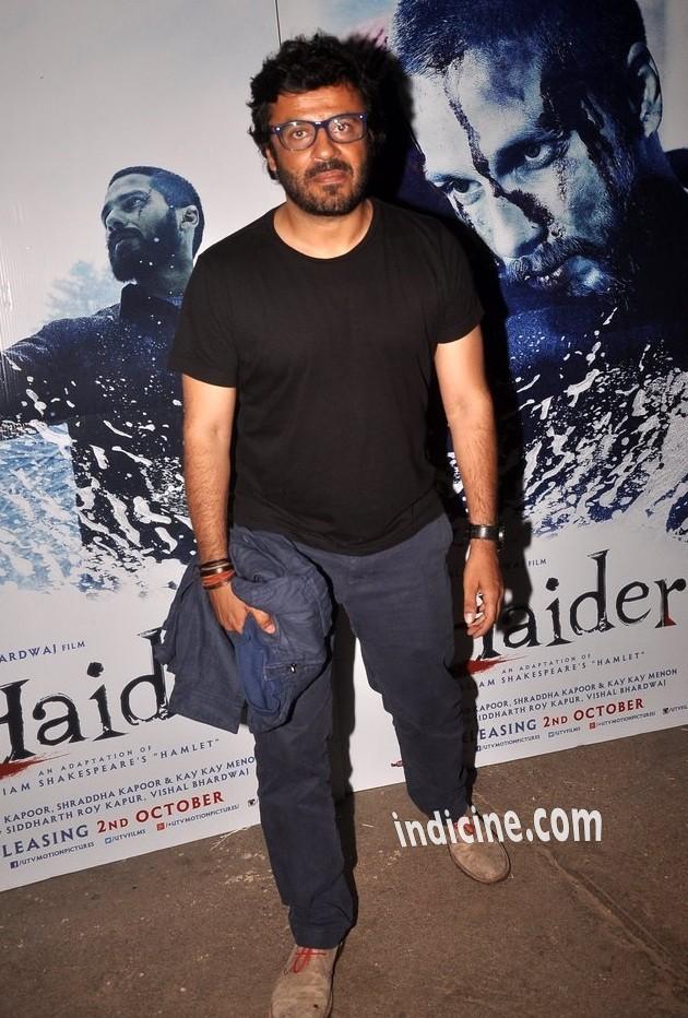 Vikas Bahl at Haider screening at Sunny Super Sound
