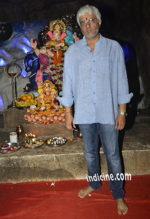 Vikram Bhatt at Ganpati visarjan