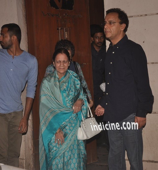 Zeenat Hussain with Vidhu Vinod Chopra