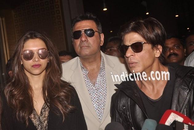 Deepika Padukone, Boman Irani and SRK