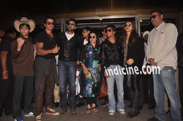 Vivaan Shah, Sonu Sood, Abhishek Bachchan, Farah Khan, SRK, Deepika Padukone and Boman Irani